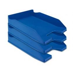 Tabuleiro de secretaria q-connect plastico azul opaco