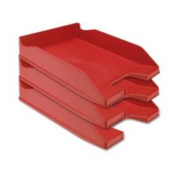 Tabuleiro de secretaria q-connect plastico vermelho opaco