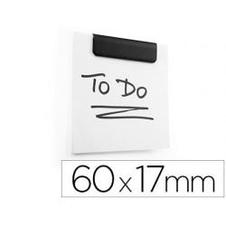 Mola metalica durable durafix clip magnetica autoadesiva 60x17 mm cor preta bolsa de 5 unidades