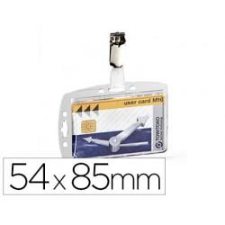 Identificador durable com mola giratoria acrilico pautado 54x85 mm