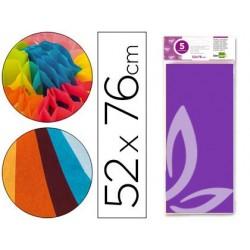 Papel seda liderpapel 52 x 76 cm 18 gr violeta
