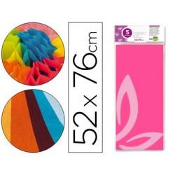 Papel seda liderpapel 52 x 76 cm 18 gr rosa