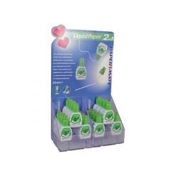Corretor liquid paper duo 2 em1 caneta corretora + correto r esponja -expositor de 24 unidades