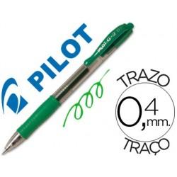 Esferografica pilot g-2 verde tinta gel -retratil -com grip