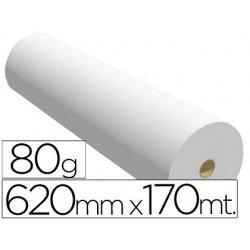 Papel reprografia para planos 80 gr 620 mm x 170 mt