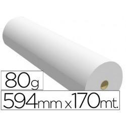 Papel reprografia para planos 80 gr 594 mm x 170 mt