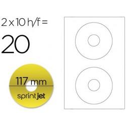 Etiqueta adesiva a4 para cd/dvd