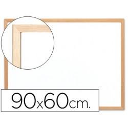 Quadro branco q-connect c/caixilho madeira 90x60 cm