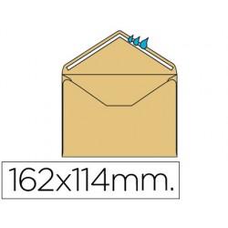 Envelope liderpapel mínimo normalizado creme 114x162mm engomado pack de 500 unidades