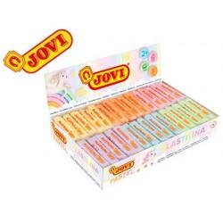 Plasticina jovi 70 50 gr caixa 30 cores pastel sortidas