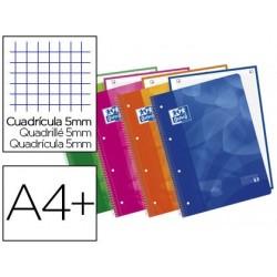 Caderno espiral oxford lagoon europeanbook1 capa polipropileno din a4 quadricula 5 mm 90g 80f