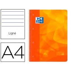 Caderno espiral oxford europeanbook1 capa polipropileno din a4 pautado 90g 80f laranja