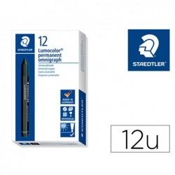 Minas staedtler para marcar preto lumocolor permanente omnigraph 236 caixa de 12 unidades
