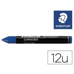 Minas staedtler para marcar azul lumocolor permanente omnigraph 236 caixa de 12 unidades