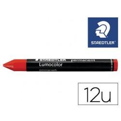 Minas staedtler para marcar vermelho lumocolor permanente omnigraph 236 caixa de 12 unidades