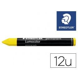 Minas staedtler para marcar amarelo lumocolor permanente omnigraph 236 caixa de 12 unidades