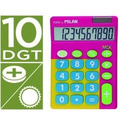 Calculadora milan mix 10 digitos rosa em blister