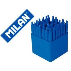 Esferografica milan p1 retratil 1 mm touch azul expositor de 40 unidades