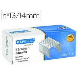 Agrafes rapesco galvanizados 13/14 caixa de 5000 unidades