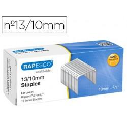 Agrafes rapesco galvanizados 13/10 caixa de 5000 unidades