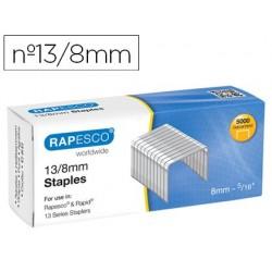 Agrafes rapesco galvanizados 13/8 caixa de 5000 unidades