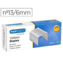 Agrafes rapesco galvanizados 13/6 caixa de 5000 unidades