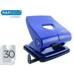 Furador rapesco 827-p azul 2 furos capacidade 30 folhas