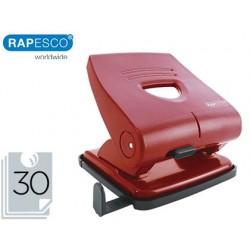 Furador rapesco 827-p vermelho 2 furos capacidade 30 folhas