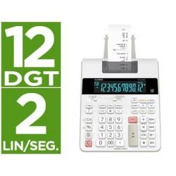 Calculadora casio impressora visor lc papel 58 mm impressao bicolor fr-2650rc 12 digitos dc cor branca