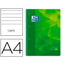 Caderno espiral oxford europeanbook1 capa polipropileno din a4 pautado 90g 80f verde