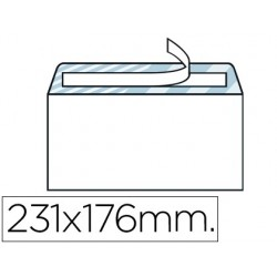Envelope liderpapel quarto branco 176x231 mm tira de silicone pack de 500 unidades
