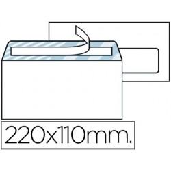 Envelope liderpapel americano branco 110x220 mm tira de silicone janela direita pack de 500 unidades