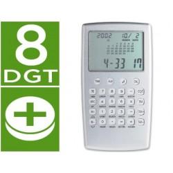 Calculadora p-929-w de secretaria com calendario alarme de 8 digitos
