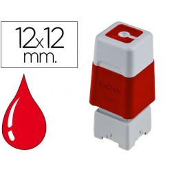Carimbo automatico brother 12 mm x 12 mm vermelho