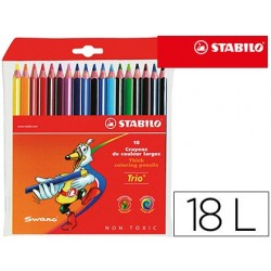Lapis de cores trio stabilo 18 unidades