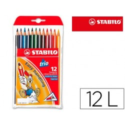 Lapis de cores trio stabilo 12 unidades