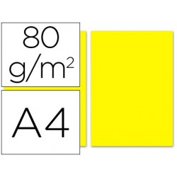 Papel de cor liderpapel din a4 80 gr amarelo resma de 100 folhas