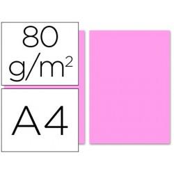 Papel de cor liderpapel din a4 pack 100 folhas rosa