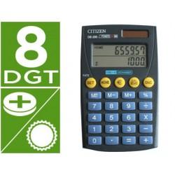 Calculadora citizen bolsillo de-200 euro 8 digitos doble pantalla negra en blister