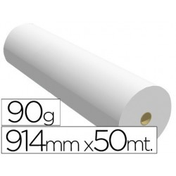 Papel reprografia 90 gr 914 mm x 50 mt