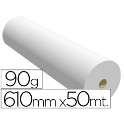 Papel reprografia 90 gr 610 mm x 50 mt
