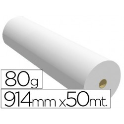 Papel reprografia 80 gr 914 mm x 50 mt