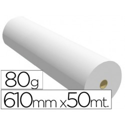Papel reprografia 80 gr 610 mm x 50 mt