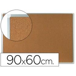 Quadro de cortica q-connect com caixilho em aluminio 600 x 900 mm