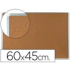 Quadro de cortica q-connect com caixilho em aluminio 600 x 400 mm