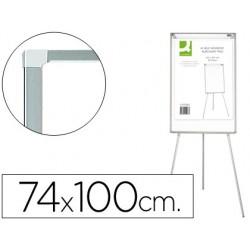 Cavalete q-connect c/quadrto de conferencia melamina e caixa aluminio