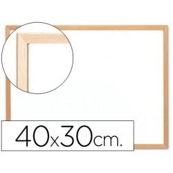 Quadro em melamina q-connect c/ caixilho em madeira 400 x 300 mm