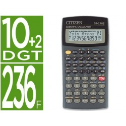 Calculadora citizen cientifica sr-270 ii 236 funcoes 10+2 digitos