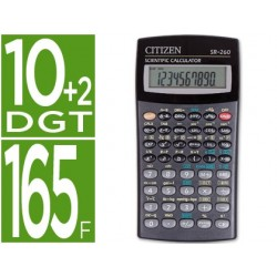 Calculadora citizen cientifica sr-260 128 funcoes 10+2 digitos