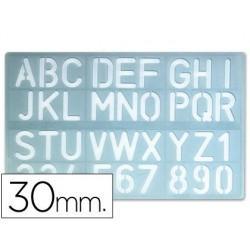 Escantilhao letras e numeros 30mm